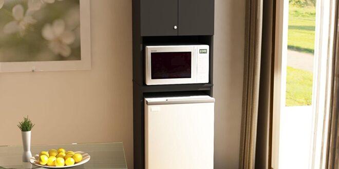 Microwave on Top of Fridge